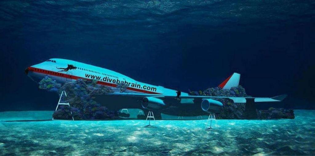 Бахрейн создает подводный тематический парк с Боингом /