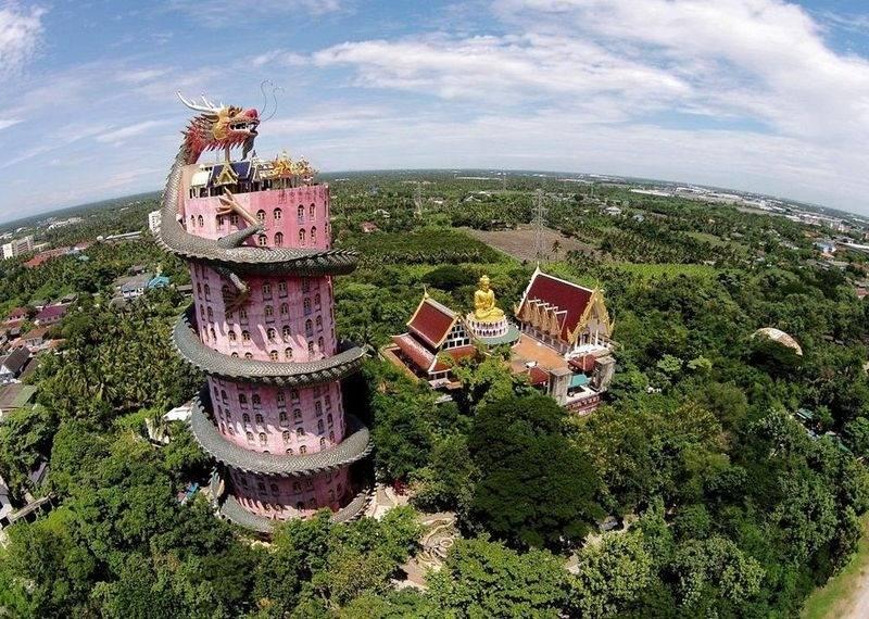 Ват Сампхан – невероятный храм дракона в Таиланде